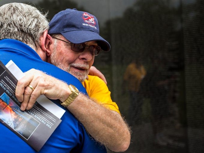 Veteran Al Morasch II becomes emotional and hugs board