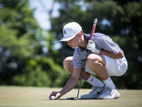 Delta's Logan Manor golfs during the Delaware County