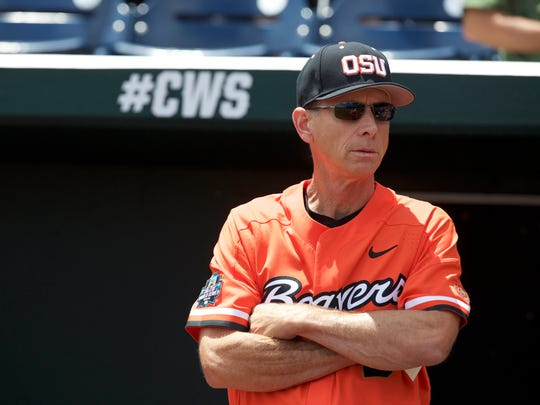 Oregon State coach Pat Casey has led the Beavers to five College World Series appearances with national championships in 2006 and 2007.