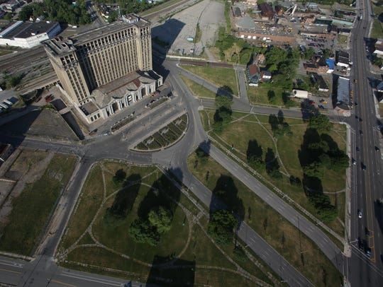 Michigan Central Station in Detroit in June 2012.