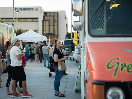 Food trucks, pictured here in Las Cruces, will now be allowed to serve at New Mexico rest areas.