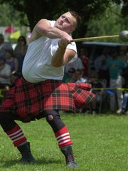 The hammer throw, stone put and caber toss are part of the annual Highland Games.