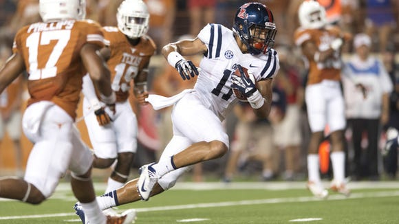 Ole Miss tight end Evan Engram had three touchdown receptions last season, including one at Texas.