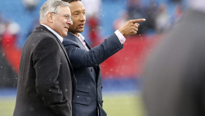Doug Whaley and Bills owner Terry Pegula.