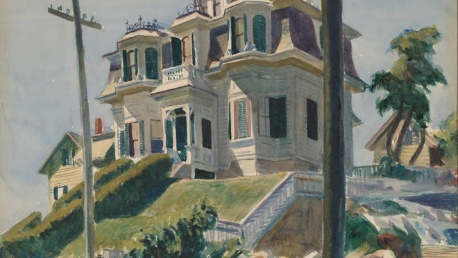 Edward Hopper's (1882- 1967) 'Haskell's House, American' is a 1924 watercolor over graphite on paperboard,