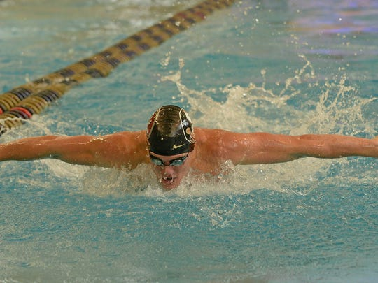 Connor Knight set ACC meet, conference and school records with his swim in the 200 fly.