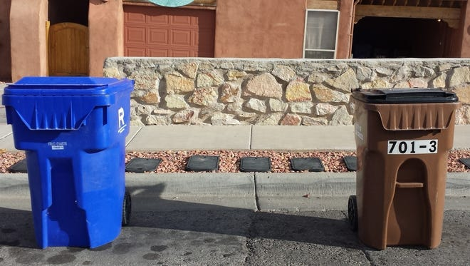 Leave at least 5 feet of space between your trash and recycling bins, so automated trucks can grab bins successfully.