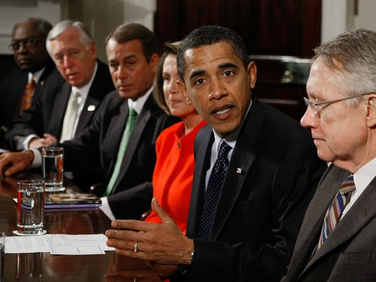 GTY OBAMA MEETS WITH CONGRESSIONAL LEADERS ON ECONOMIC STIMULUS PACKAGE A GOV USA DC