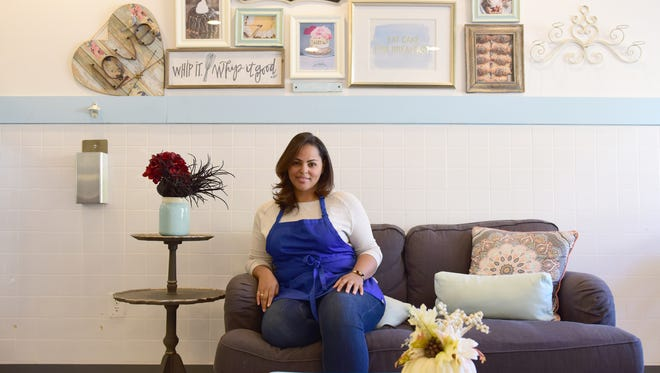 Gina Constanza, owner of Gina the Baker, on Main Street in Ridgefield Park, N.J.