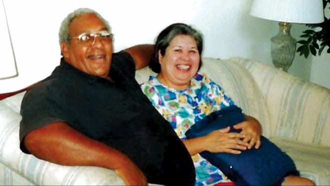 George Louis Brooks Jr. with wife, Tomi Nakachi Brooks
