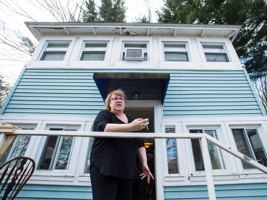 Susan Willard moves out of her home on Thursday, April