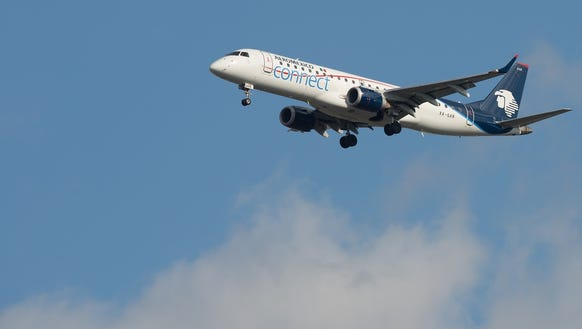 An Aeromexico Embraer E190 is seen from New York JFK