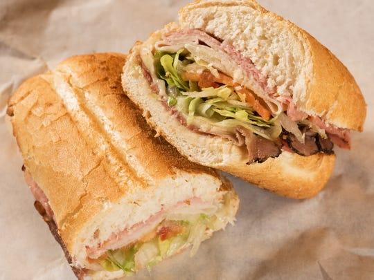 Roast beef sandwich from Potbelly Sandwich Shop