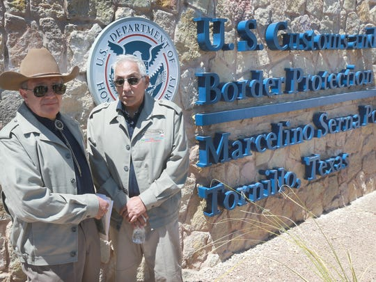 Greg Vera, left, and Rey Rivera led the effort in naming of the Tornillo port-of-entry for Marcelino Serna.