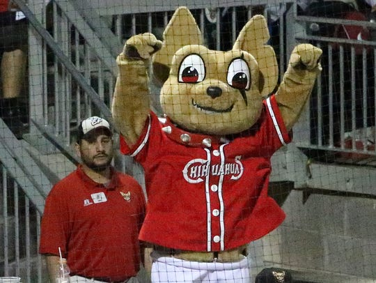 Chico waves goodbye to a Tacoma batter who struck out.