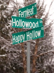 The intersection of Fernleaf Drive, Hollowood Drive