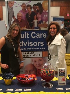 Taken during a trade show, Carol Katz of Monmouth County with her daughter Dina Katz-Frauwirth of Essex County.  The pair owns a business which assists families with senior care.