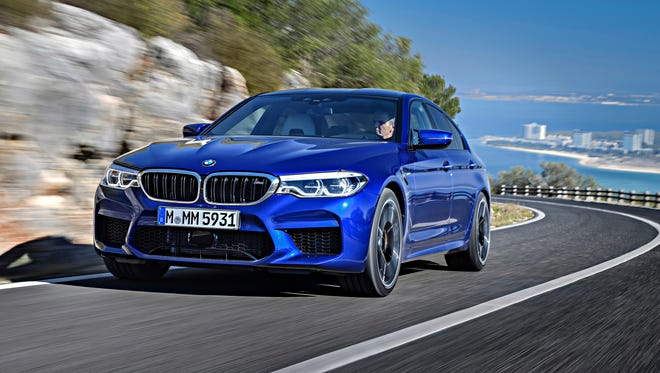 This undated photo provided by BMW shows the 2018 BMW M5, one of the cars that BMW is making available in the $3,700-per-month tier of its Access by BMW car subscription service. In BMW's program, members can switch cars during a month as often as they like.