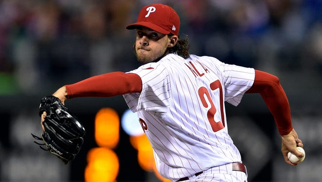 Pitcher Aaron Nola is a big reason the Philadelphia Phillies may be playoff bound. AP FILE PHOTO