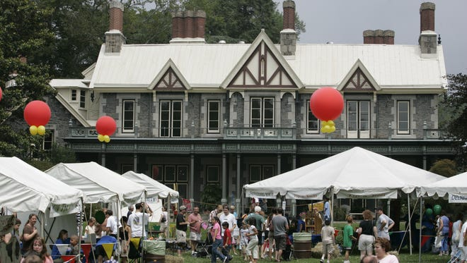 The Rockwood Mansion is a backdrop for the 2018 New Castle County Ice Cream Festival.