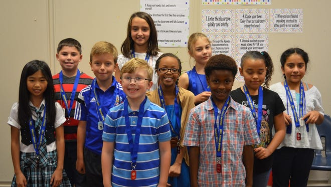 Whitehall Elementary School Writers' Guild for grades 3-5, who participated shown in the first row are Dylan Bilbrey and Damien Hunter; second row are Anna Chen, David Gorczyca, Nevaeh Ehirim and Kassidie McIntosh; and back row are Jaiden Coakley, Savannah Jennings, Natalia Smith and Vanya Lopez-Escalera. Not pictured: Brajaon Allen and Valencia McKiver.