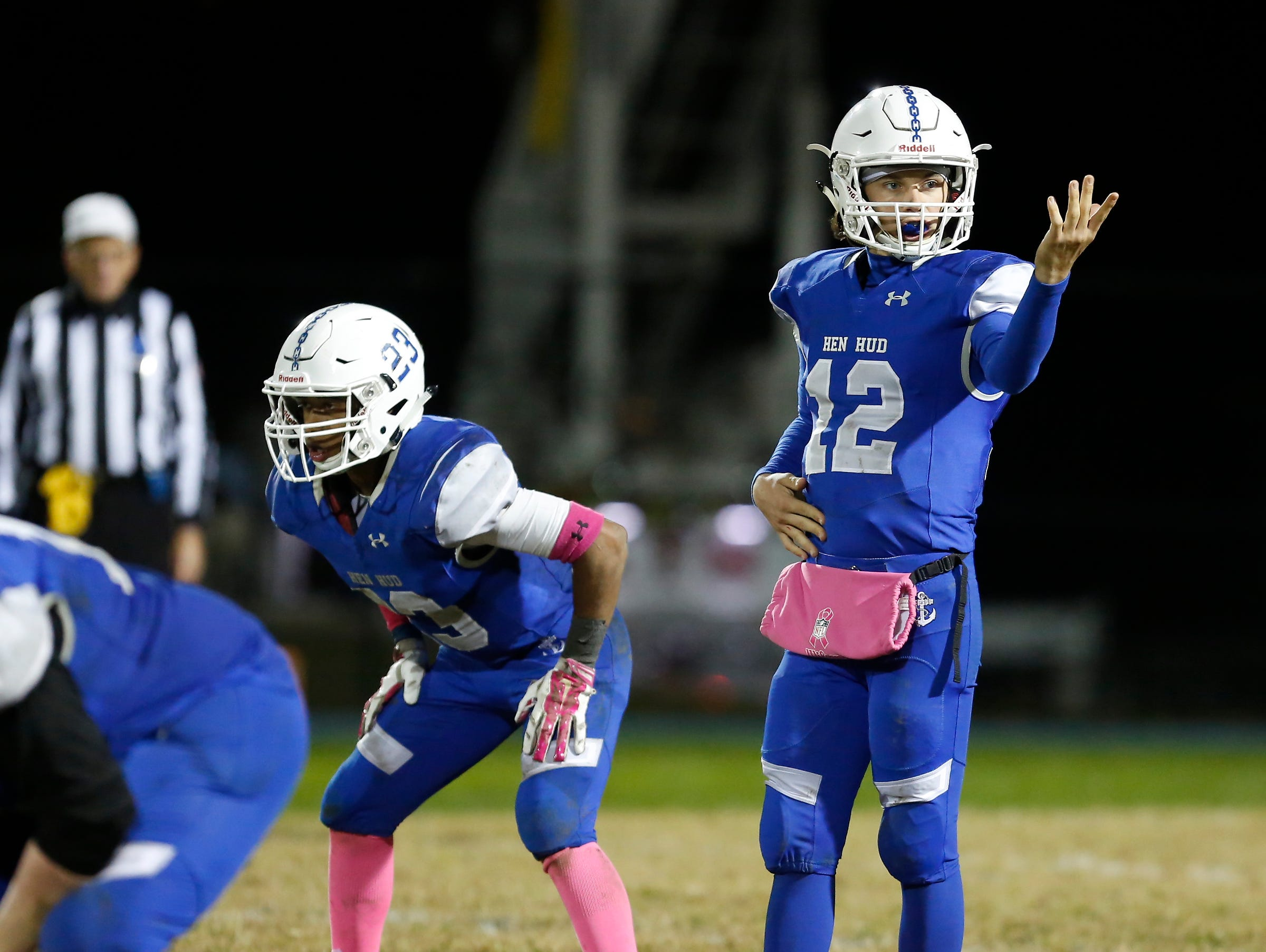 Quarterback Nick Cunningham and Hen Hud defeated Tappan Zee 20-14 in a Class A qualifying round game at Hendrick Hudson High School in Montrose on Friday night.