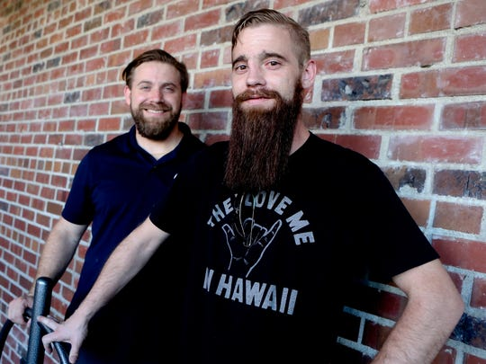 Brothers, Aaron, left, and Brandon Smith have taken over the former Angelo's Pizza spot in downtown Redding. They will rename the restaurant Fratelli's and serve hand-tossed New York style pizza, pasta, hot sandwiches and soups.