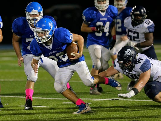 Shore Regional's Jack McCrae runs loose from the grip