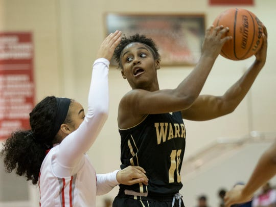 Shaila Beeler of Warren Central High School looks for