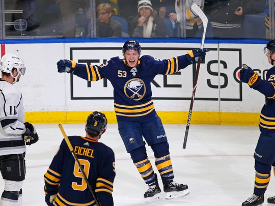 The Sabres' trade for Jeff Skinner in August  (without surrendering a first-round pick  to Carolina) is looking like one of the great heists of the year.