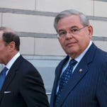 Getty Images Robert Menendez NEWARK, NJ - APRIL 02: U.S. Sen. Robert Menendez (D-NJ) speaks next to attorney Abbe Lowell outside the federal court after he was indicted on corruption charges on April 2, 2015 in Newark, New Jersey. Sen. Menendez and Dr. Salomon Melgen are being indicted on corruption charges stemming from the senator being accused of accepting nearly $1 million in gifts and campaign contributions. (Photo by Kena Betancur/Getty Images) ORG XMIT: 546210641 ORIG FILE ID: 468395424