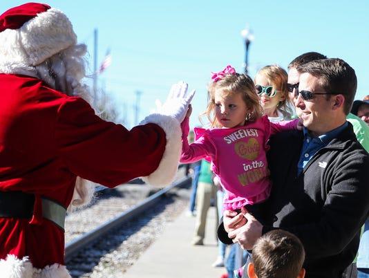 Santa's Santa Fe Christmas at Railway Museum of San Angelo 2017