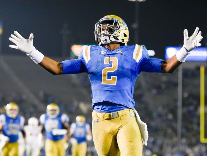 Nov 11, 2017: UCLA Bruins wide receiver Jordan Lasley