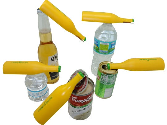 The Magic Opener is designed to open any bottle or can and is especially good for those suffering from arthritis or other hand ailments.