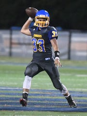 Westview's Cole Sullivan looks to throw the ball to