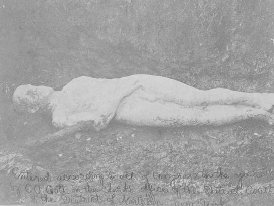 """The Cardiff Giant, """"discovered"""" in 1869."""