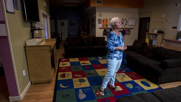 Christine Scarpati at the Child Crisis Center in September