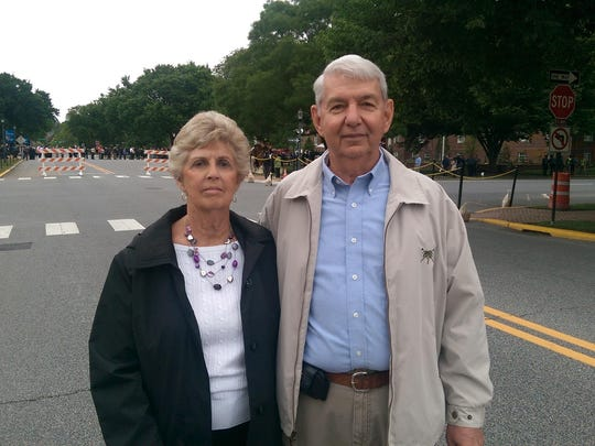 Phyllis and Ted Tull are shown in Dover on Thursday. Delaware residents gathered at the state capitol Thursday to pay their respects to former Attorney General Beau Biden.