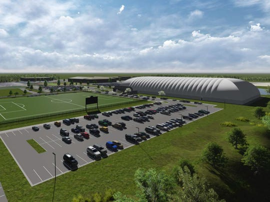 Artist conception of the $6 million multi-sport dome planned for Schoolcraft College's Livonia campus.