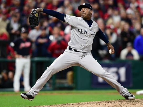 Yankees closer Aroldis Chapman