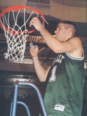 Former Zionsville High School basketball standout Brad Stevens, Class of 1995, is shown here his senior season.