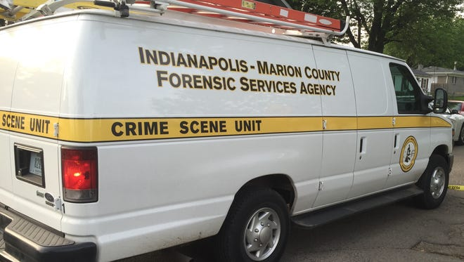Indianapolis-Marion County Forensic Services Agency van