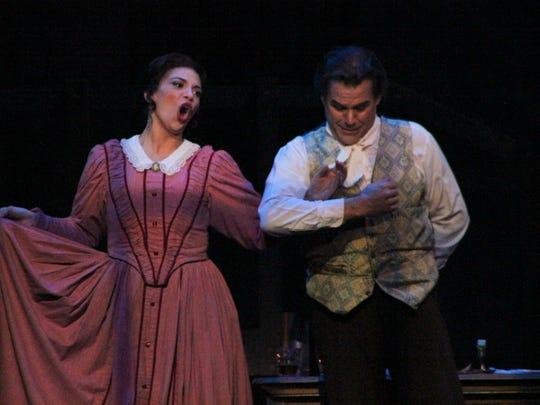 Jessica Rose Cambio (Mimi) and Richard Troxell (Rodolfo)