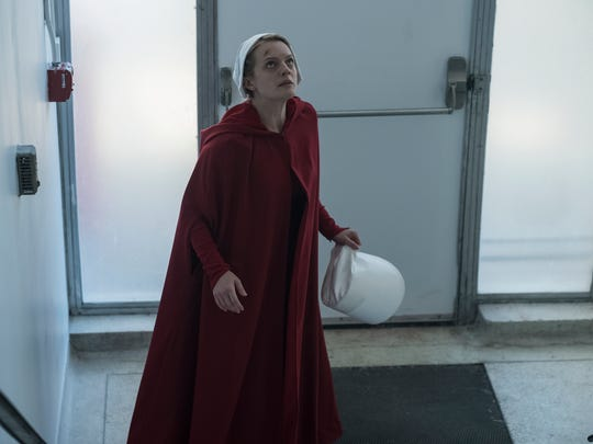 "Offred (Elisabeth Moss) reaches something close to freedom in the Season 2 of ""The Handmaid's Tale,"" which is set in a dystopian society where fertile women are forced to bear children for rich families."