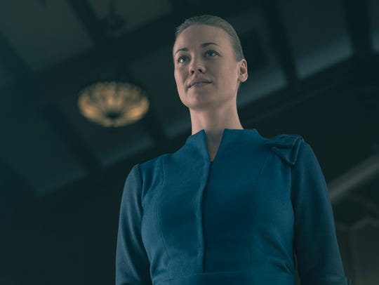 "Serena Joy (Yvonne Strahovski) on ""The Handmaid's Tale."""