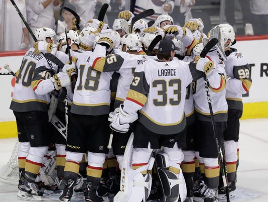 USP NHL: STANLEY CUP PLAYOFFS-VEGAS GOLDEN KNIGHTS S HKN WPG VGK CAN MA