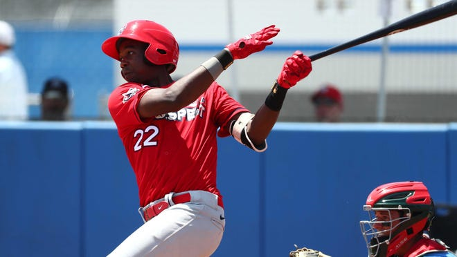 The St. Louis Cardinals' No. 1 pick in 2020 Jordan Walker is headed to the Peoria Chiefs. He was scheduled to be in the lineup for Tuesday's series opener against West Michigan.