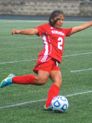 Manchester junior Shirley Montes (2) has picked up the slack with the injury of Diane Tozser.