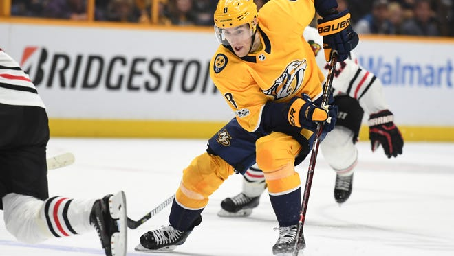 Predators center Kyle Turris has 17 points in his first 18 games for the team since being traded to Nashville last month.