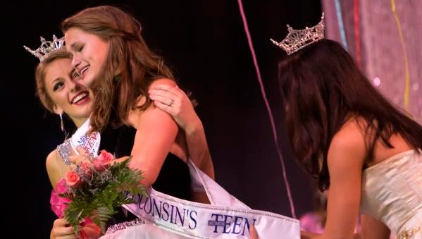 Miss Harbor Cities' Outstanding Teen Grace Stanke wins the title of Miss Wisconsin's Outstanding Teen 2017 Friday, June 16, 2017, at Alberta Kimball Auditorium in Oshkosh.